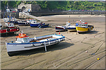 SN1300 : Stranded boats, Tenby by Alan Hunt