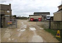 SO8700 : Entrance to Tobacconist Farm Minchinhampton by Jaggery