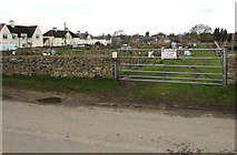 SO8700 : Allotments entrance gate, Minchinhampton by Jaggery