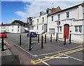 SO9422 : Black metal posts across New Street, Cheltenham by Jaggery