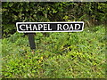 TM1192 : Chapel Road sign by Adrian Cable