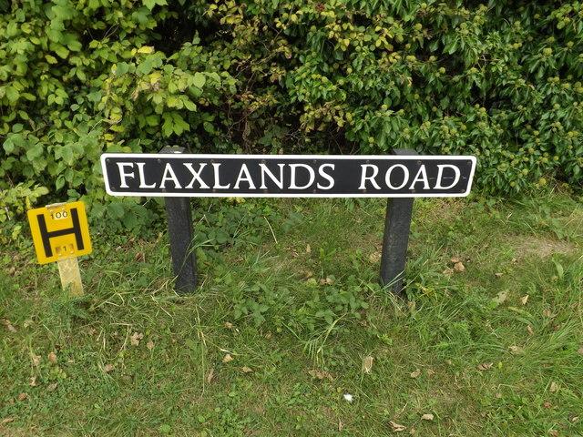 Flaxlands Road sign