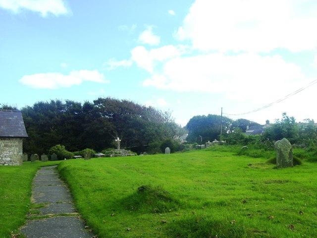 St Michael's Church Bosheston - graveyard
