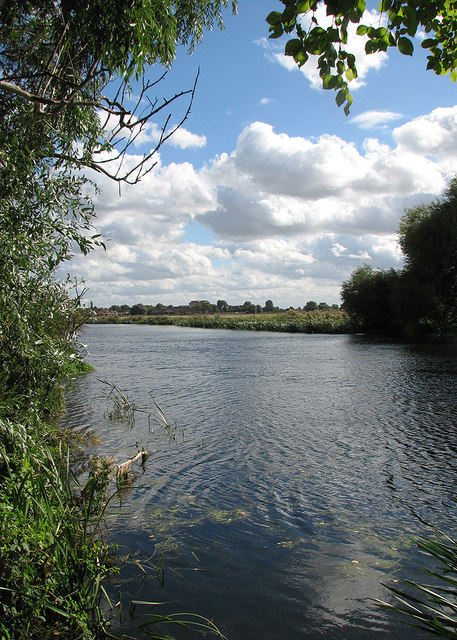 The Great Ouse and a glimpse of St Ives