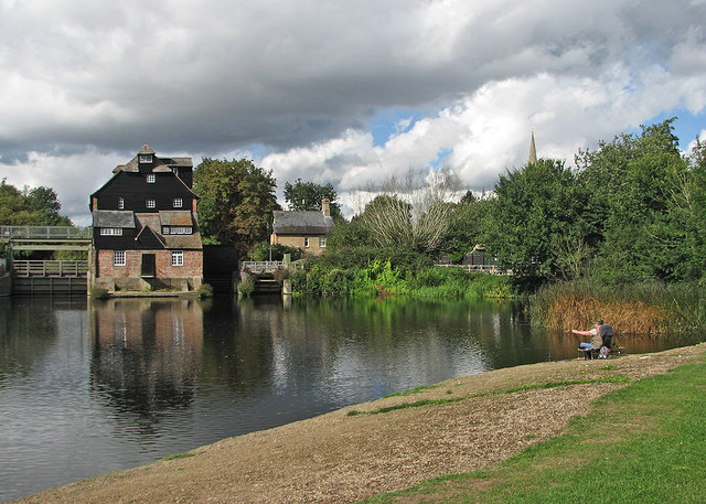 Fishing at Houghton Mill
