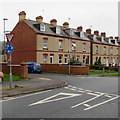 SO8006 : Give Way sign, Gloucester Road,  Stonehouse by Jaggery