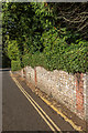 TQ1648 : Wall, Rose Hill by Ian Capper