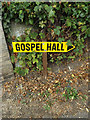 TM1179 : Gospel Hall sign by Adrian Cable