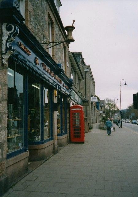 A chemist's shop on Bachory High Street (2003)
