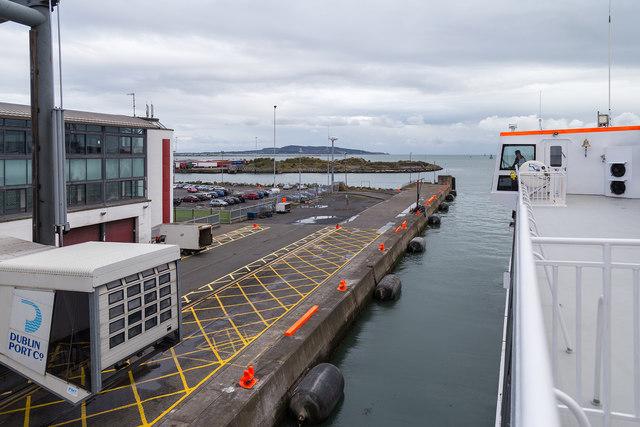 Leaving Terminal 1, Dublin Port
