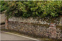 TQ1649 : Wall, 3 Rose Hill by Ian Capper