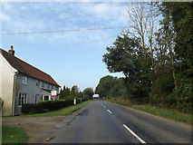 TM1387 : B1134 Long Row, Tibenham by Adrian Cable