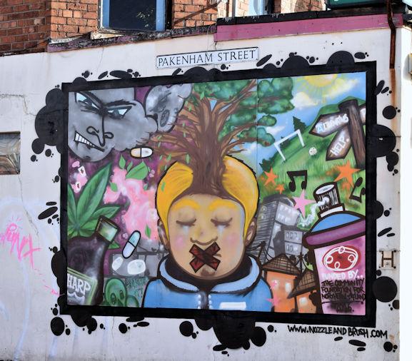 Street art, Donegall Pass, Belfast (October 2016)