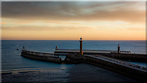 NZ8911 : Whitby Pier at Dawn by Peter Moore