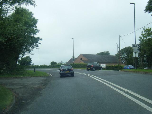 A517/ Dog Lane junction at Hulland Ward