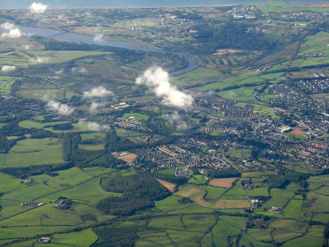 Kilwinning from the air