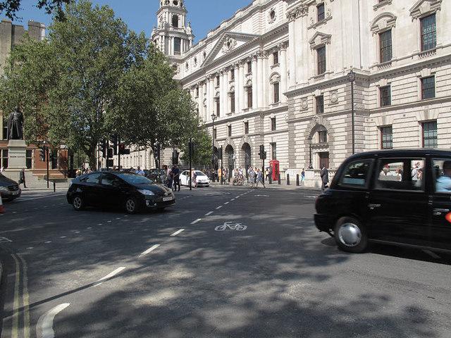 Tiger crossing, Parliament Square