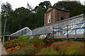 NZ0384 : Walled garden, Wallington: the Owl House and greenhouses by Christopher Hilton