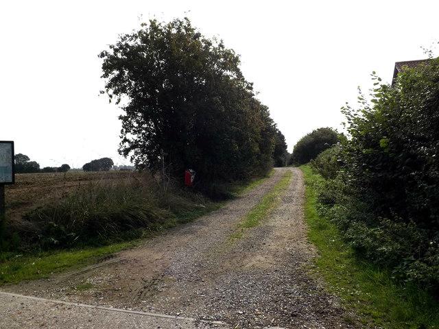 Narrow Lane footpath to Slough Lane & Pristow Green Lane