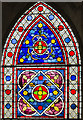 SK9771 : Stained glass window Nt18, Lincoln Cathedral by Julian P Guffogg