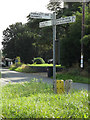 TM1389 : Roadsign on Church Road by Adrian Cable