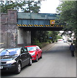 SO9422 : West side of a former railway bridge over Market Street Cheltenham by Jaggery