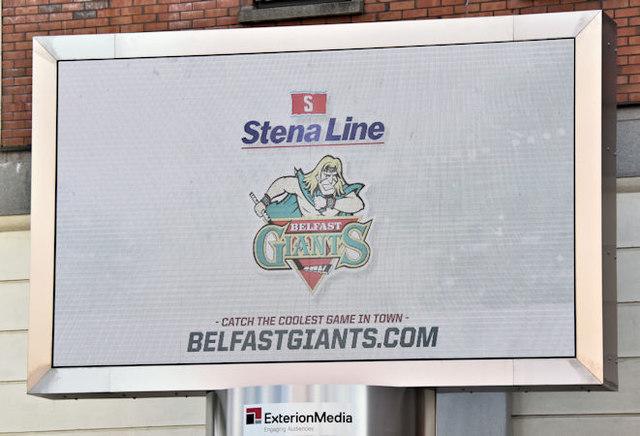 Stena Line/Belfast Giants digital advertising, Belfast - October 2016(1)
