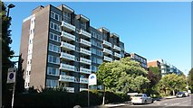 TQ2472 : Blocks of flats overlooking Wimbledon Park by David Martin