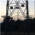 SK4934 : Pylons, Toton Manor Farm Park by David Lally