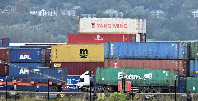 Containers, Belfast harbour (October 2016)