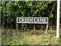 TM1787 : Green Lane sign by Adrian Cable