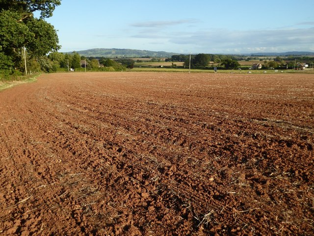 Ploughed field near Levant Lodge