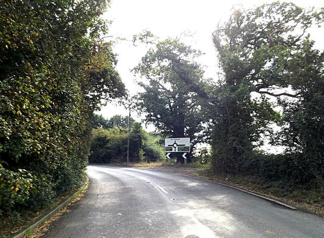 B1134 Station Road & Roadsign