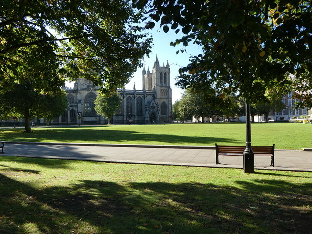 Bristol Cathedral across College Green