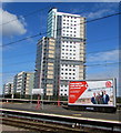 SO9198 : JCDecaux advertising site on Wolverhampton Railway Station by Jaggery