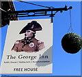 SO6101 : George Inn name sign, Aylburton by Jaggery