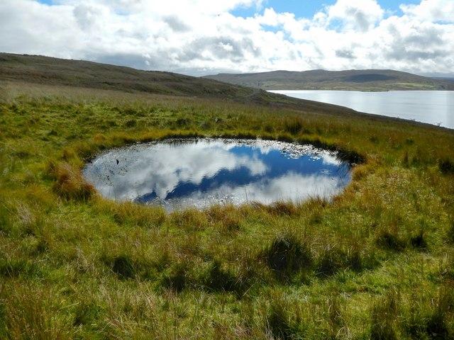 Bomb crater near Loch Thom