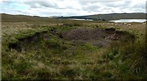 NS2673 : Bomb crater near Loch Thom by Lairich Rig