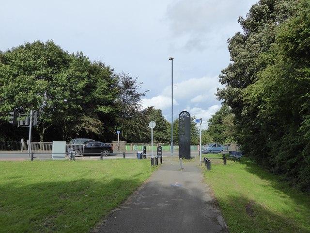Cobridge: cycleway off A53