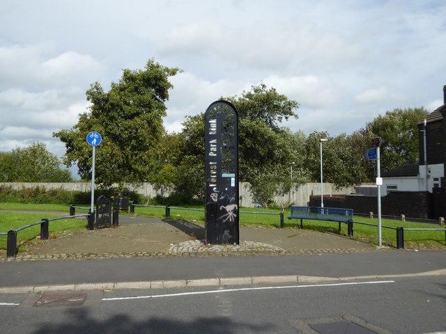 Cobridge: cycleway off Sneyd Street