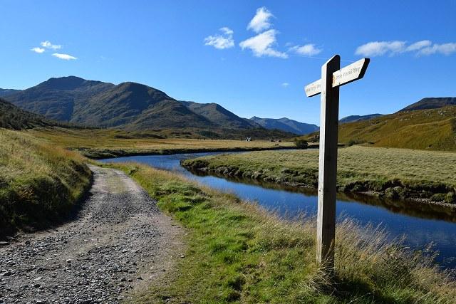 Affric Kintail trail waymarker