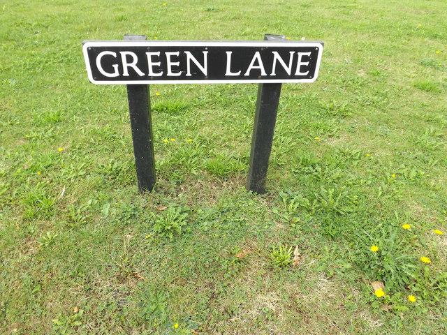 Green Lane sign