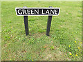 TM1686 : Green Lane sign by Adrian Cable