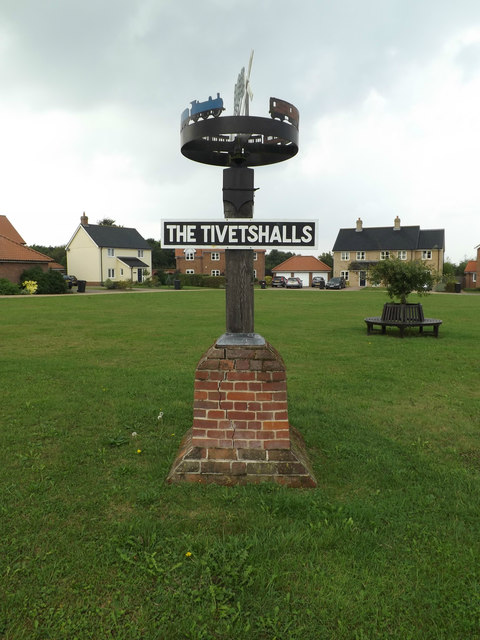 The Tivetshalls Village sign