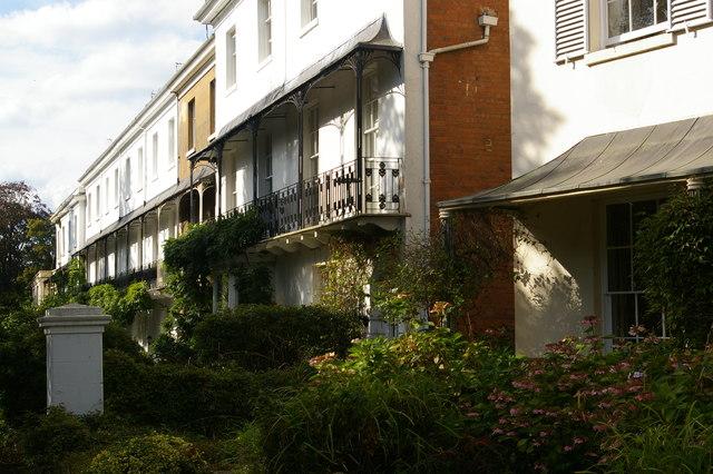 Regency houses on Binswood Avenue, Leamington Spa