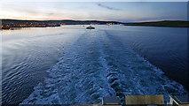HU4841 : Bressay Ferry crossing the wake of MV Hrossey by Julian Paren