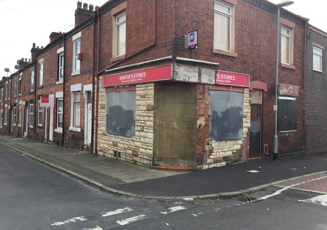 Hanley: Horton's Stores on the corner of Denbigh Street