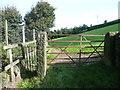 SE0225 : Hebden Royd FP55 (10) - Footpath gate near Great Scout Farm, Mytholmroyd by Humphrey Bolton