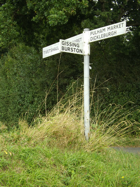 Signpost on Glebe Road