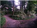 SZ1094 : Strouden: footpath K48 meets up with footpath K18 by Chris Downer